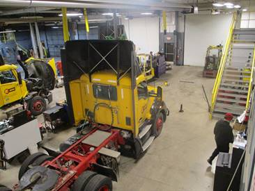 Data from vehicles is fed into the company's TMT Fleet Maintenance management system.